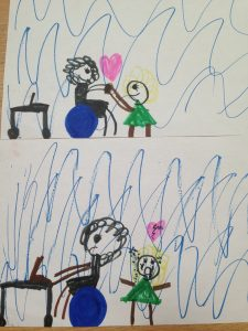 Petra's daughter depicts life with a TPII editor mom!